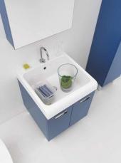 . Глубокая раковина для стирки мебель для постирочной Skip Colavene синий Indaco