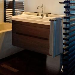 Мебель для ванной комнаты. Kerasan Waldorf База подвесная под раковину 100см, цвет темный орех