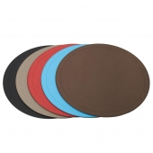 . Круглая кожаная подставка для тарелок Athena round place mats by GioBagnara