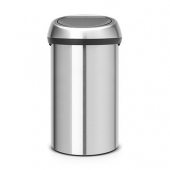 Мусорные баки и вёдра для кухни. Мусорный бак TOUCH BIN 60 литров Matt Steel матовая сталь