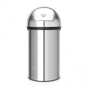 Мусорные баки и вёдра для кухни. Мусорный бак с нажимной крышкой 60 литров Matt Steel матовая сталь