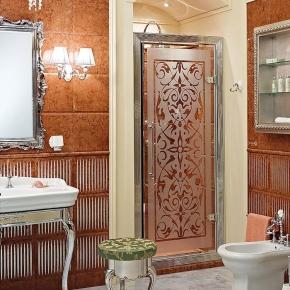 Душевые кабины Створки стеклянные Шторки для душа. Lineatre Tiffany TN 900 Душевая дверь в нишу 90хh200 см