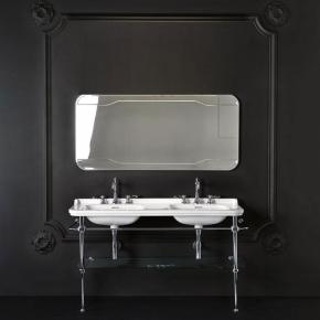 Раковины-консоли. Раковина двойная консоль Kerasan Waldorf 4143 на металлической стурктуре 9195