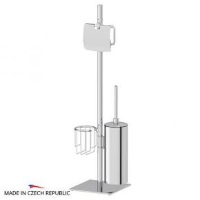 Стойки напольные с ёршиком бумагодержателем, полотенцедержателем и высокие. Стойка с 3-мя аксессуарами для туалета 72 cm ELLUX Domino DOM 010