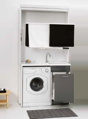Итальянские постирочные раковины Мебель и оборудование для постирочной комнаты. Мебель для постирочной Colavene сушилка складная с Глубокая раковина для стирки серая