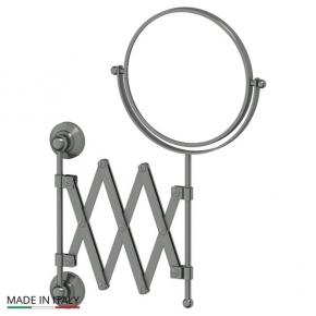Зеркала косметические с подсветкой увеличением настенные настольные Зеркала с присосками. Косметическое зеркало двухстороннее античное серебро 1x2 3SC STILMAR STI 420