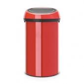 Мусорные баки и вёдра для кухни. Мусорный бак TOUCH BIN 60 литров Passion Red красный