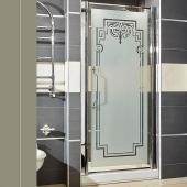 Душевые кабины Створки стеклянные Шторки для душа. Lineatre Londra LN 790 Душевая дверь в нишу 80хh186 см