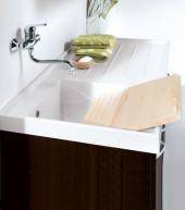 Итальянские постирочные раковины Мебель и оборудование для постирочной комнаты. Мебель для постирочной тумба с раковиной с крылом для стиральной машины Lavatrice Wenge
