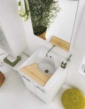 Итальянские постирочные раковины Мебель и оборудование для постирочной комнаты. Мебель для постирочной Cily Colavene Глубокая раковина для стирки керамическая Белая