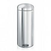 Мусорные баки и вёдра для кухни. Мусорный бак Brabantia с педалью 30 литров MC Brilliant Steel полированная сталь