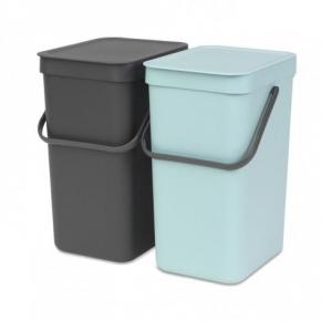 Мусорные баки и вёдра для кухни. Набор ведер для мусора SORT&GO 12л (2шт)