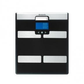 Весы напольные для ванной и сауны. Весы для ванной комнаты Brabantia с мониторингом веса Black чёрный
