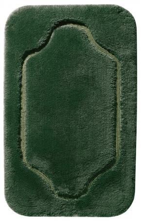 Коврики для ванной комнаты.  COUNTRY коврик для ванной комнаты Nicol Зелёный с золотым/серебряным люрексом