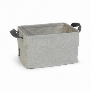 Корзины для белья. Складная корзина для белья Серая с ручками текстильная 105685