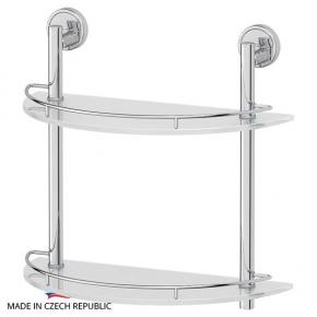 Полки для душа Сетки Полки для ванной стеклянные Полки для полотенец. Полка 2-х ярусная 40 cm FBS Luxia LUX 081