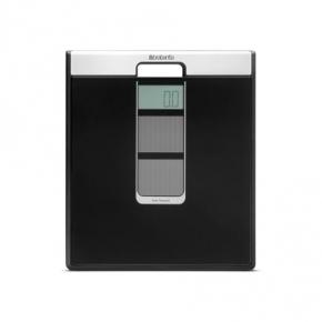 Весы напольные для ванной и сауны. Весы для ванной комнаты Brabantia на солнечных батареях Black черный