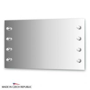 Зеркала для ванной. Зеркало с 8-ю светильниками 320 W 130х75 cm ELLUX Rondo RON-A8 9010