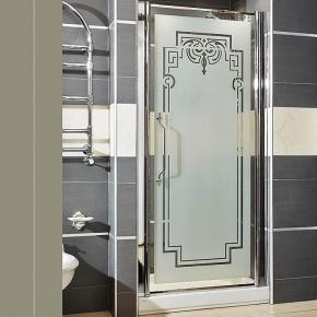 . Lineatre Londra LN 880 Душевая дверь в нишу 90хh186 см
