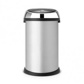 Мусорные баки и вёдра для кухни. Мусорный бак TOUCH BIN 50 литров Metallic Grey серый металлик