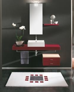 Коврики для ванной комнаты. STRUCTURA III Коврик для ванной комнаты Nicol с декором