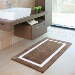 Коврики для ванной комнаты. LINEA 2 Коврик для ванной комнаты Nicol с декором