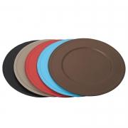 Посуда Столовые приборы Декор стола Deluxe. Подставка для тарелок кожаная Paride presentation plates by GioBagnara