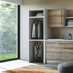. Colavene Smartop раковина мебель постирочная комната шкаф открытые полки