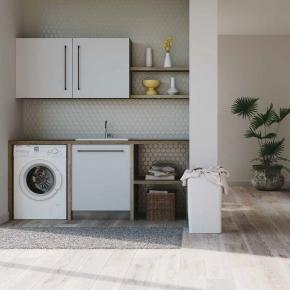 Итальянские постирочные раковины Мебель и оборудование для постирочной комнаты. Colavene Smartop мебель раковина постирочная комната шкаф настенный
