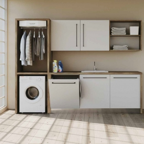 Итальянские постирочные раковины Мебель и оборудование для постирочной комнаты. Colavene Smartop мебель встроенная раковина постирочная комната шкаф полки сушилка Smart-Dry