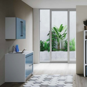 Итальянские постирочные раковины Мебель и оборудование для постирочной комнаты. Colavene Smartop мебель раковина постирочная комната шкаф для встраивания стиральной и сушильной машины