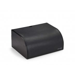 Аксессуары для кабинета Deluxe. Ralph Lauren Home BRENNAN BLACK шкатулка настольная кожаная чёрная