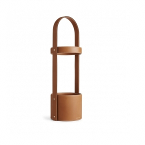 . Ralph Lauren Home BRENNAN SADDLE подставка для зонтов кожаная коричневая
