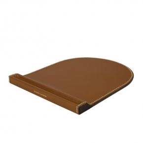 . Ralph Lauren Home BRENNAN SADDLE кожаный коврик для компьютерной мыши коричневый