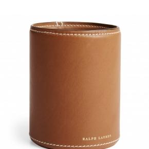 Аксессуары для кабинета Deluxe. Ralph Lauren Home BRENNAN SADDLE стаканчик для ручек кожаный коричневый