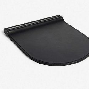 . Ralph Lauren Home BRENNAN BLACK кожаный коврик для компьютерной мыши чёрный