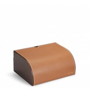 . Ralph Lauren Home BRENNAN SADDLE шкатулка коричневая кожаная