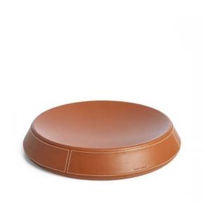 . Ralph Lauren Home BRENNAN SADDLE коричневая ёмкость кожаная большая настольная
