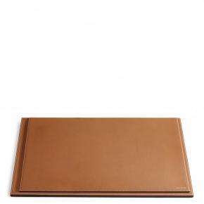 . Ralph Lauren Home BRENNAN SADDLE коричневый планшет для письменного стола кожаный большой