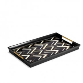 . Поднос Deco Noir Black&White Tray-Large