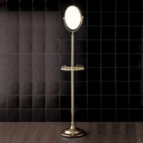 Зеркала косметические с подсветкой увеличением настенные настольные Зеркала с присосками. Напольное косметическое зеркало двухстороннее с увеличением 1х2 Devon&Devon Single золото