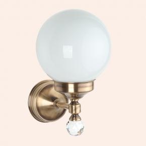"""Светильники для ванной комнаты. Бра со стеклянным плафоном """"шар"""" (комплект), стекло: матовое TW Crystal TWCR130br/sw"""