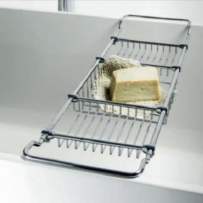 Полки для душа Сетки Полки для ванной стеклянные Полки для полотенец. Полка для ванны Bath Shelf металлическая
