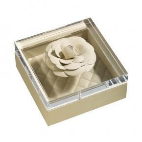 Аксессуары и Мебель для дома. Ёмкость с крышкой кожаная Fiori leather boxes by Riviere