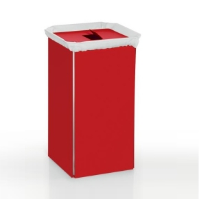 Корзины для белья. Корзина для белья красная RED металлическая Lineabeta