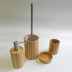Аксессуары для ванной настольные. Bambus Nicol деревянные аксессуары для ванной бамбуковые настольные