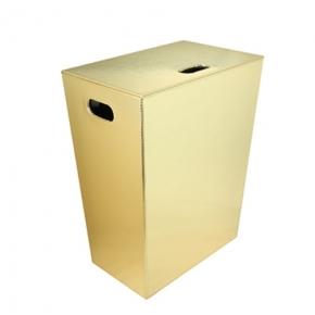 Корзины для белья. Ecopelle корзина для белья кожаная Золото