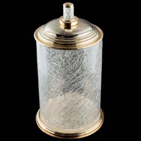 Вёдра с педалью Дровницы Вёдра. Boheme MURANO CRYSTAL золотое ведро стекло 10914-CRST-G