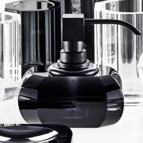 Аксессуары для ванной настольные. Decor Walther Kristall Anthrazit чёрный хрустальный Дозатор