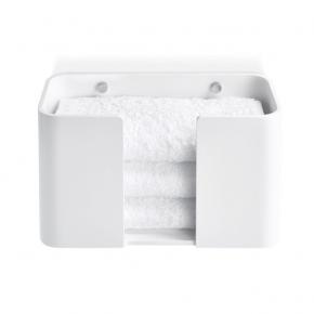 . Аксессуары для ванной композитные белые Stone Decor Walther лоток для полотенец